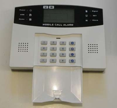 Burglary alarm panel - close up picture of keypad