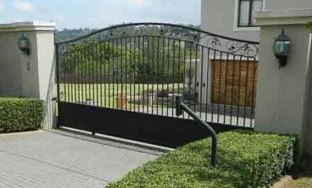 A Strong black entrance gate