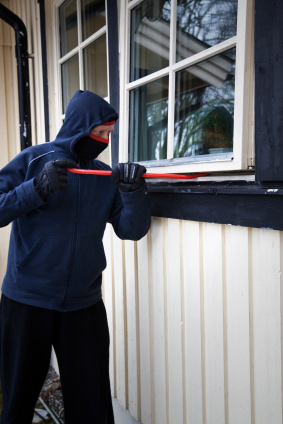 Home invasions - Burglar breaking into a home