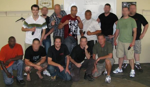 Evan at Amok! combatives knifefighting seminar in South Africa