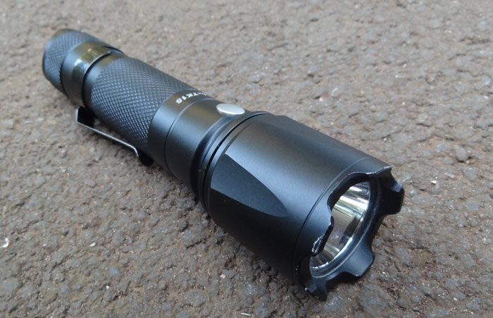 An ideal ladies weapon - Black Fenix TK15 flashlight
