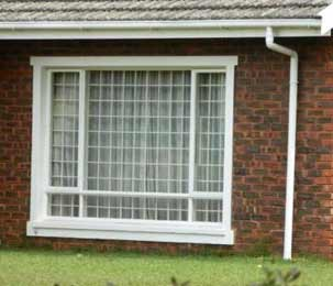 Home Window Security - Attractive white burglar bars