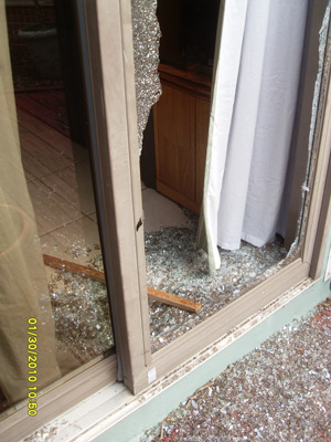 Home invasions - A window is often smashed to get in