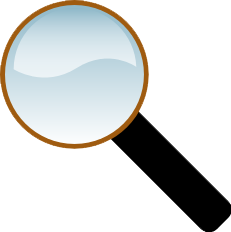Clipart pic of magnifying glass