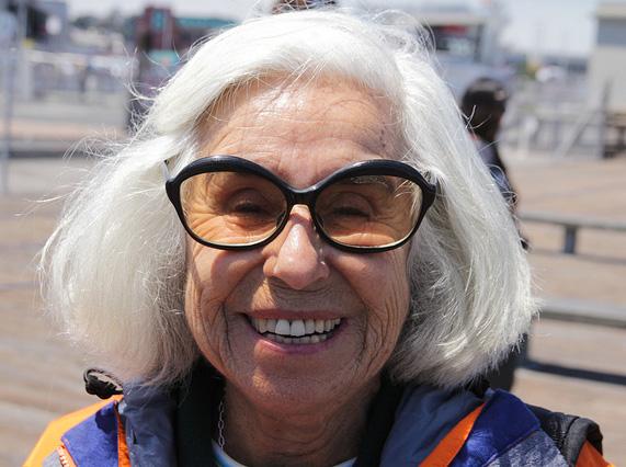 Self defense basics - grinning grandma with funky glasses