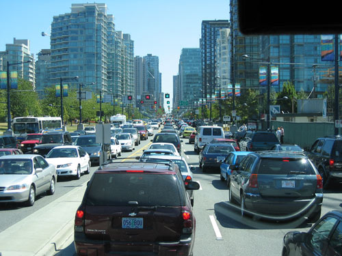 Crime Safety Tips: Lines of vehicles stuck in traffic