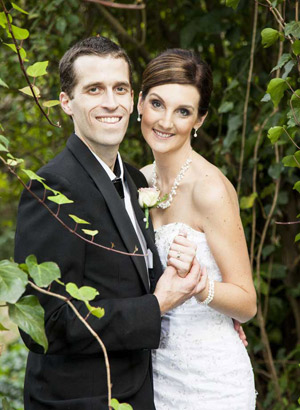 Creator of Escape Crime - Evan and his lovely wife on their wedding day
