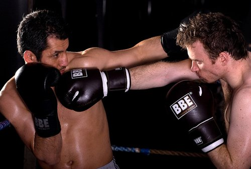 Fight Training - Two guys boxing