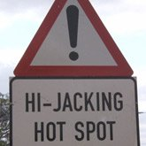 Hijackings - A street sign saying