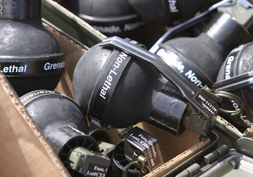 Non Lethal Practice Grenades used in the military