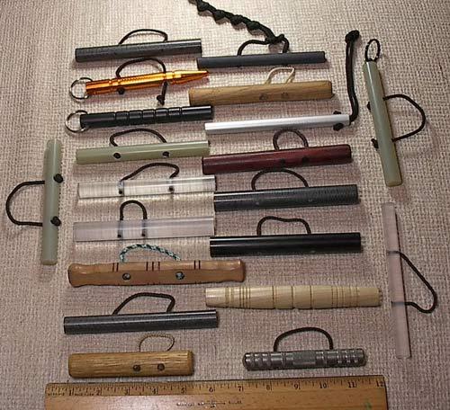 A wonderful collection of pocket sticks