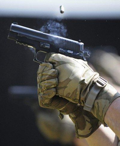 Home defense weapons - Handgun firing