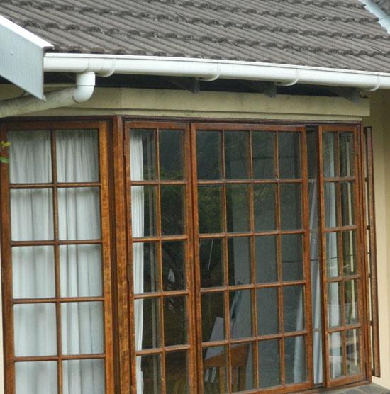 Home Window Security - Wooden burglar bars