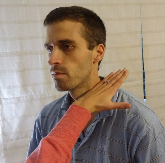 Edge of hand blow to side of neck