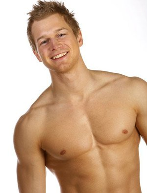Self defense for women - Male upper body strength - picture of muscular guy
